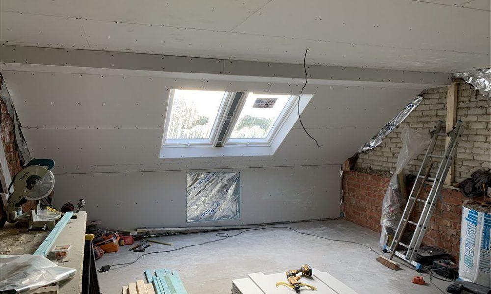Littlethorpe Loft Conversion Dormer - Boarded